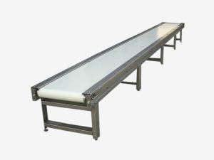 Конвейер ленточный для штучных грузов из алюминиевого профиля